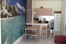 Double apartments 800m from a beach