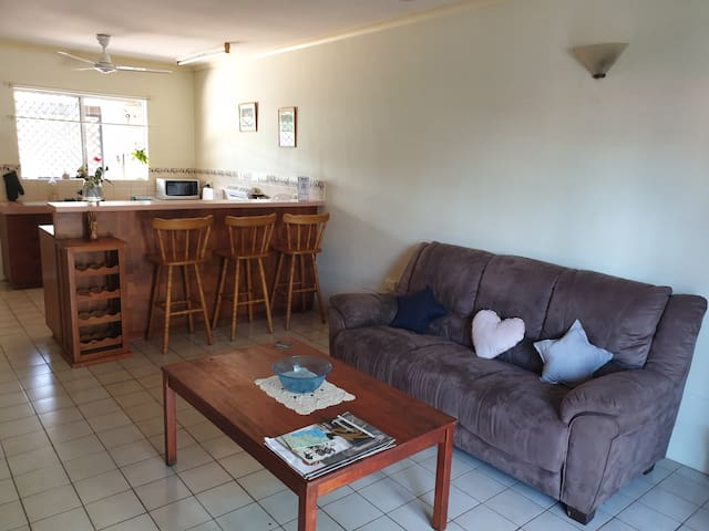 Entire apartment with garden close to city.
