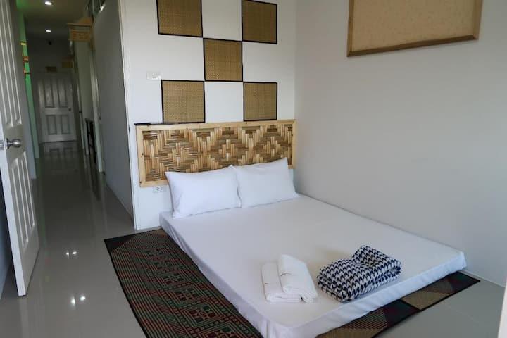 Standard Double Room w/ Fan at Baan URT Suratthani