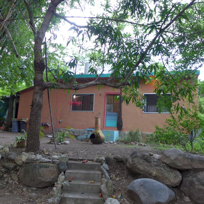 Full view of casita from the steps