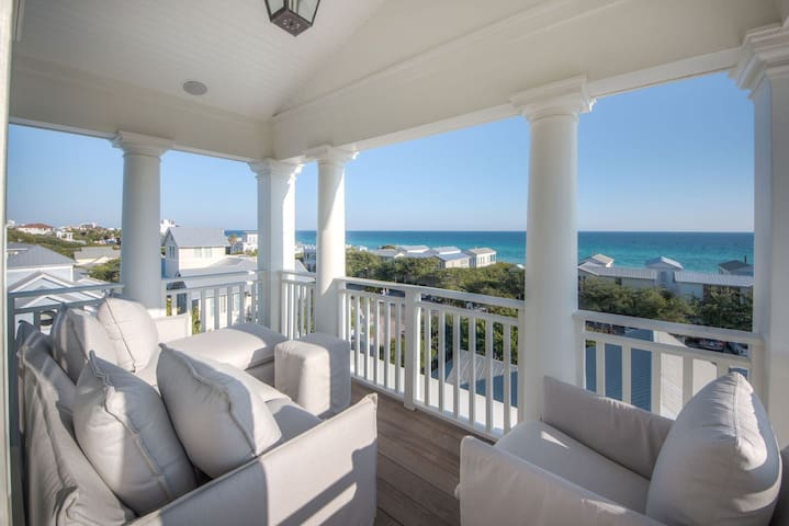 Seaside luxury with stunning Gulf Views and Private Pool. 1 block to town center