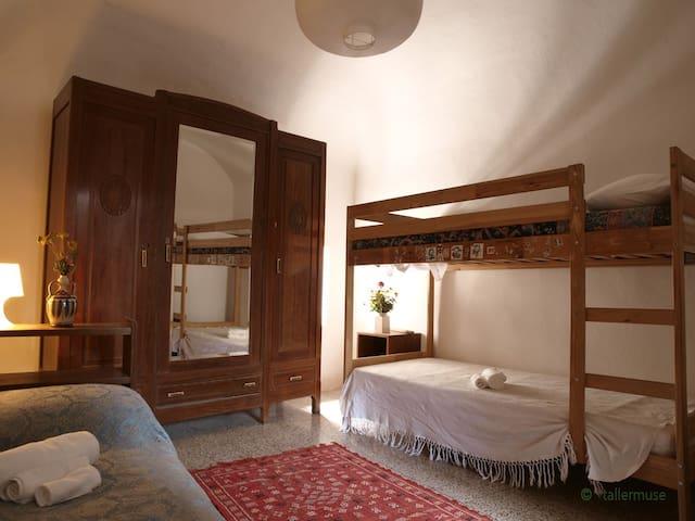 La camera tripla, comoda e funzionale
