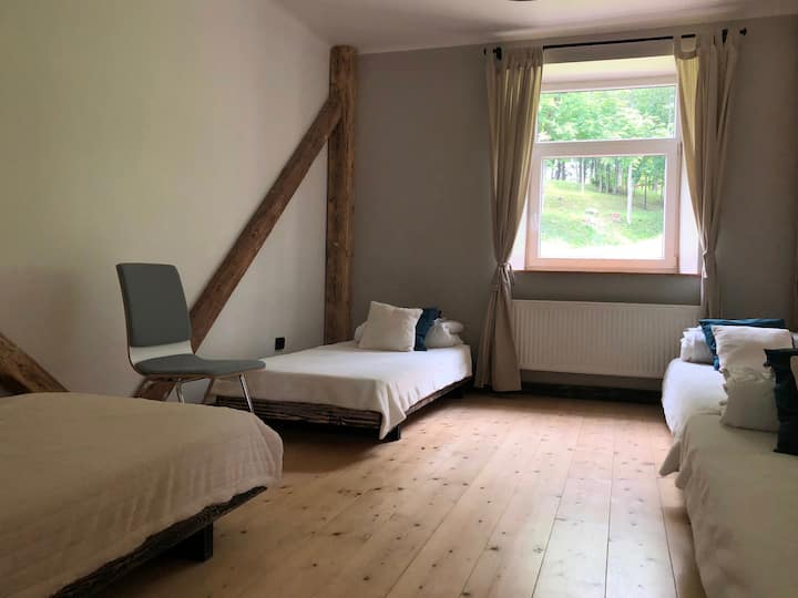 Bedroom in a hostel near the monastery