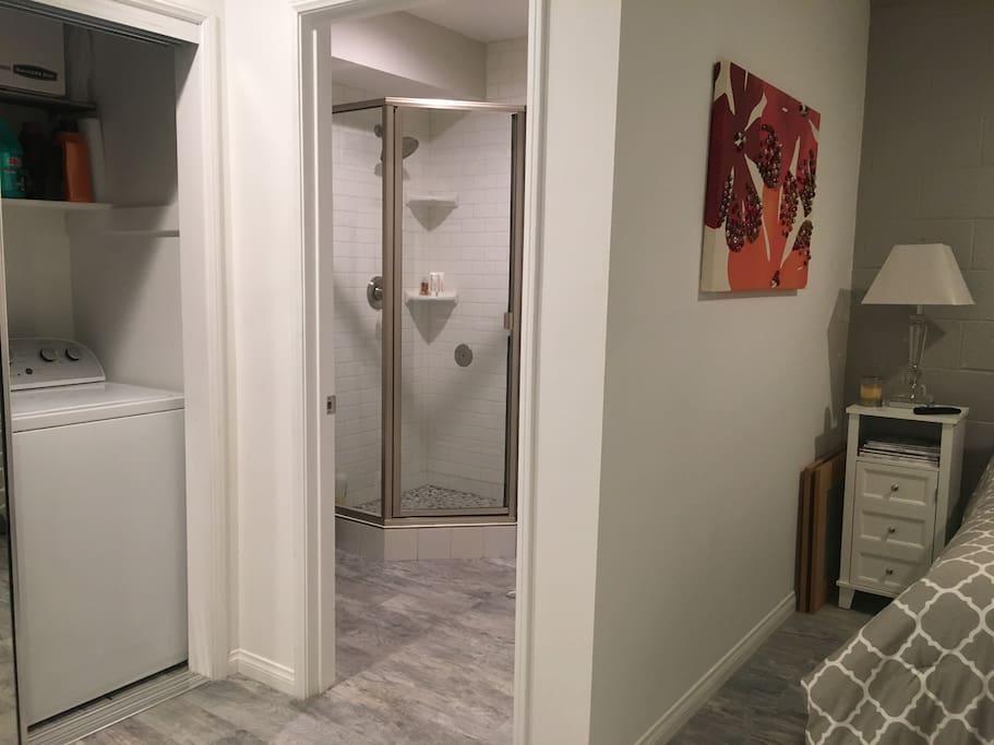 Laundry available/private en suite bathroom