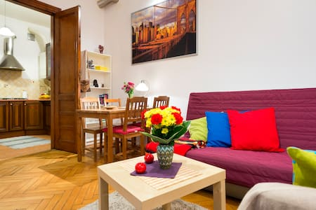 Comfortable and quiet apartment in heart of Old Town, just 250 meters from Wawel castle and 400m from Main Square.  The apartment has one room, fully equipped kitchen and bathroom.  You can feel home but be respectful for neighbours and no party!