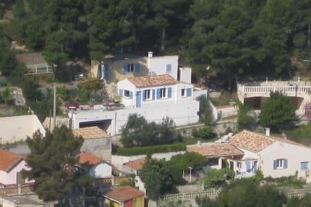 la maison bleue dans la calanque - le Rove