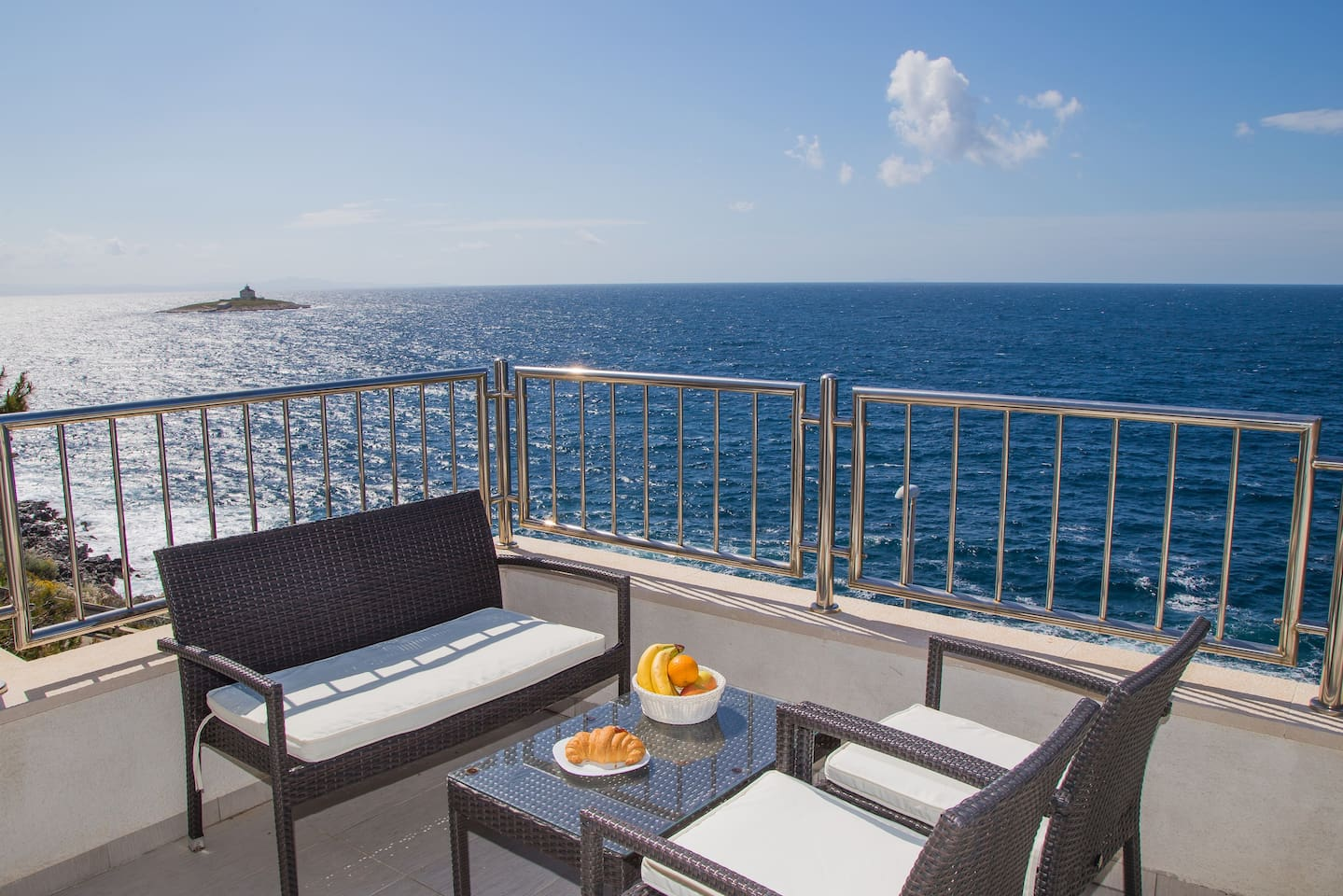 Private rooftop terrace overlooking the sea