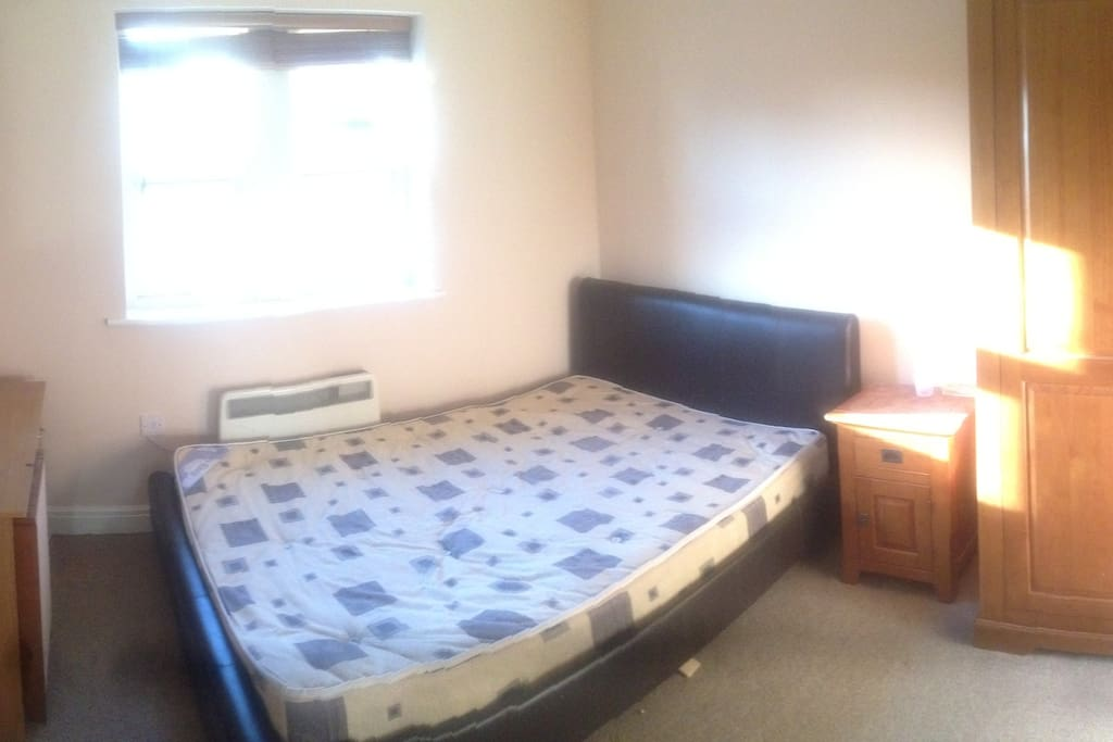 Bedroom, wardrobes and cupboard available to use.