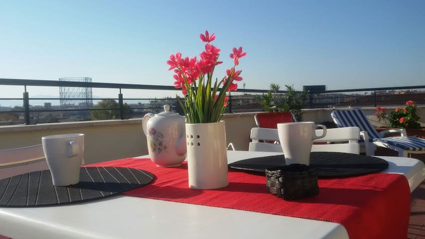 Bright penthouse with terrace - Roma - Apartment