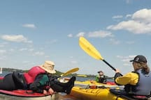 VITAMIN SEA Airbnb has  3  Kayaks and 3 Bikes  for guests to save from having to pay hundreds dollars to rent them in Town  and to save the hassle of  pickup  and delivery.