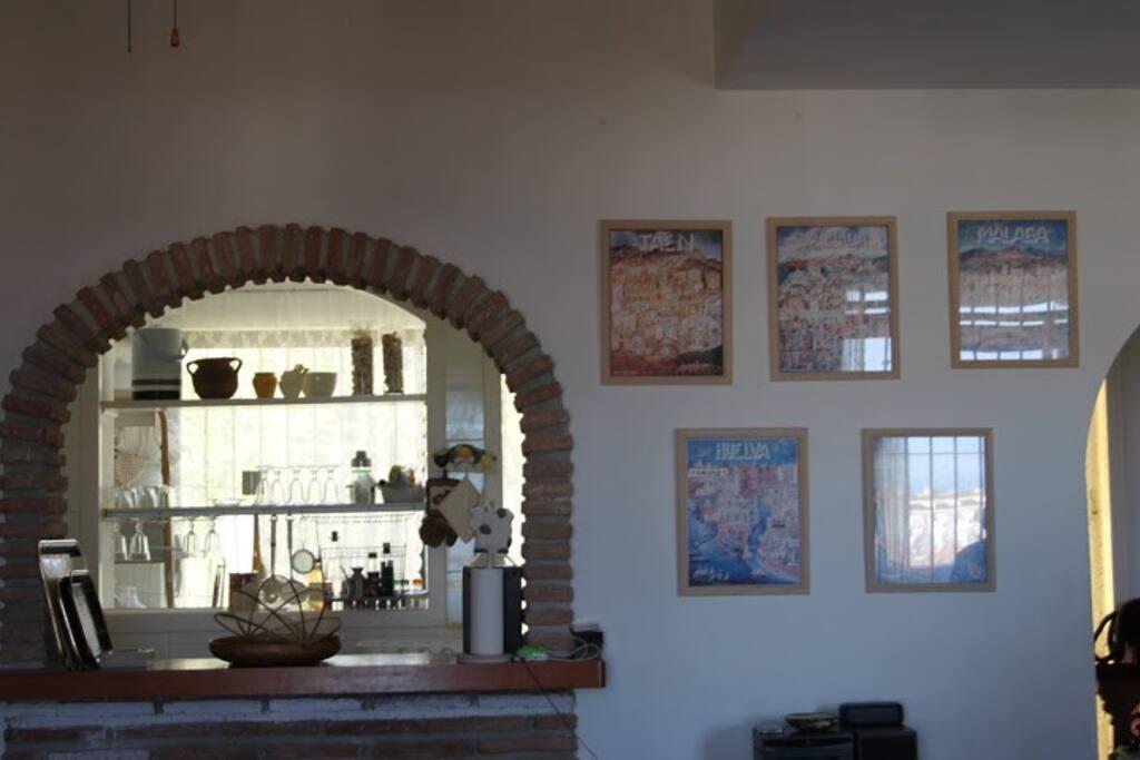 arco entre salon y cocina