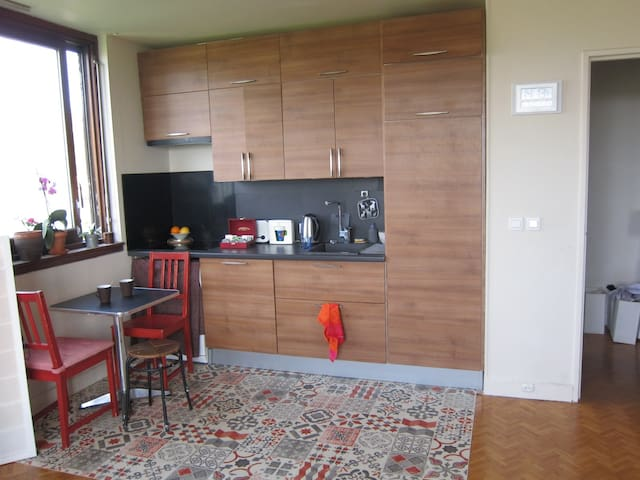 Sunny room with private kitchen ! 30 mn from Paris - Fontenay-sous-Bois - 公寓