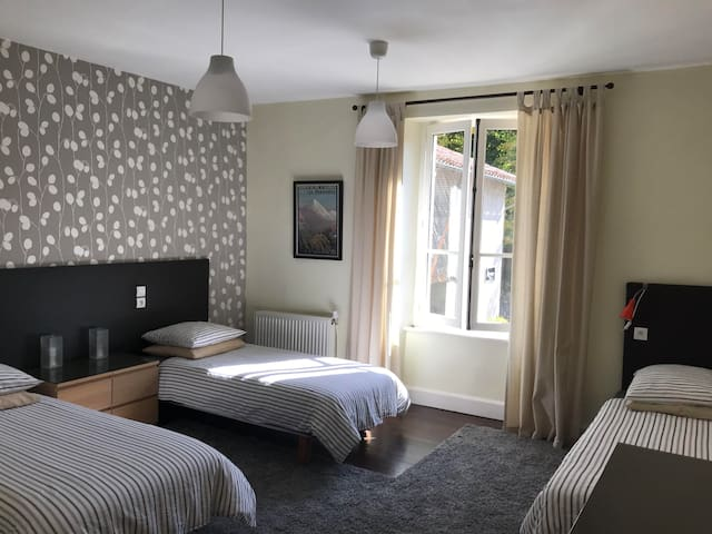 Bedroom Two Twin or Double configuration Plus single bed Max occupancy 3 Ensuite shower room (Shower, sink & WC)