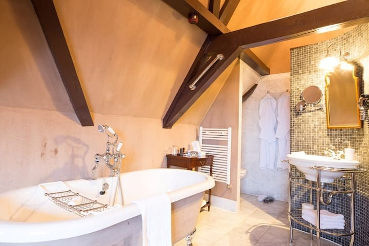 Quirky full-open-space attic room & bathroom(35m2) in vintage Golden Age Regents House in the picturesque old city centre of Monnickendam. Couples getaway a stone-throw-away from Amsterdam. Hidden Gem with Michelinstar Restaurant in house.