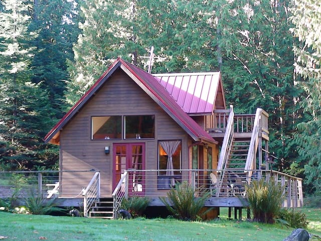 The Cabin of Two Bears on San Juan Island
