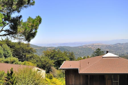 Mountain Top Studio Cottage w/Bay, Ocean Views - Mill Valley
