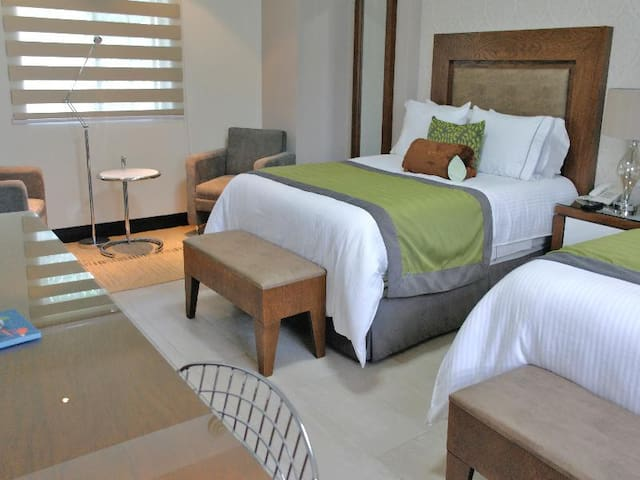 Cool Double Two Double Beds At Guadalajara Alrededores
