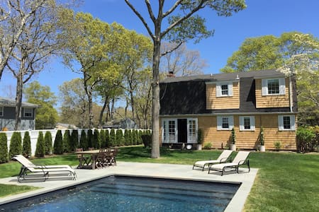 Summer by the pool. Available now for July 2016. - East Quogue - House