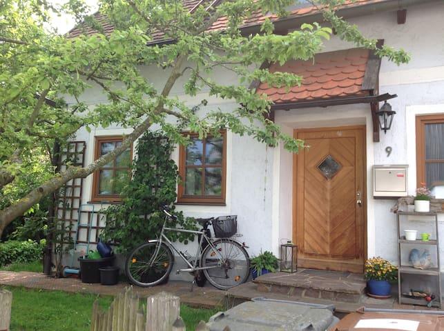 Hexenhaus mit Apfelbaum