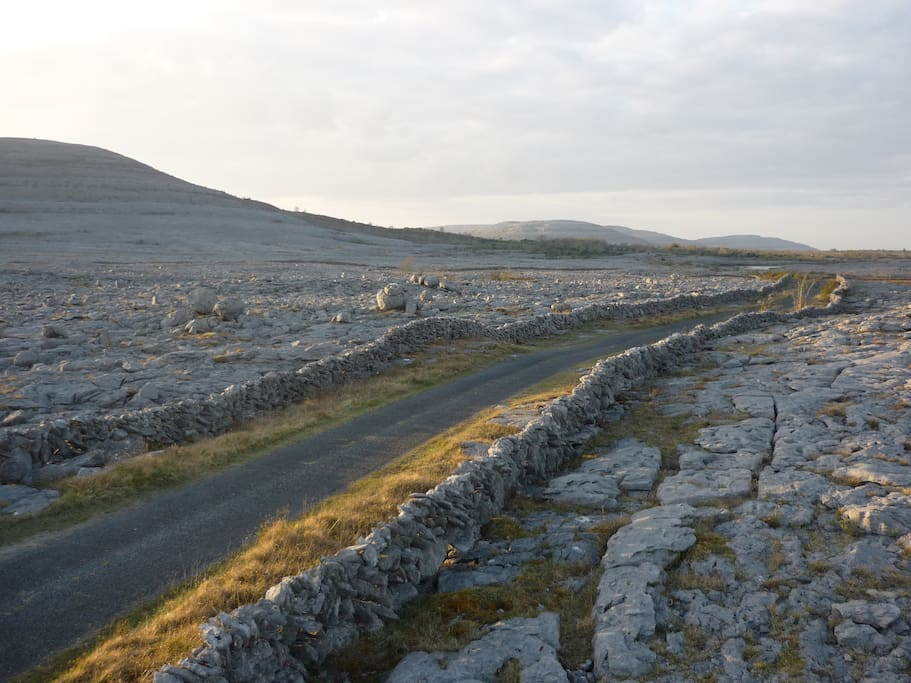 Road to the cottage in the Burren National Park