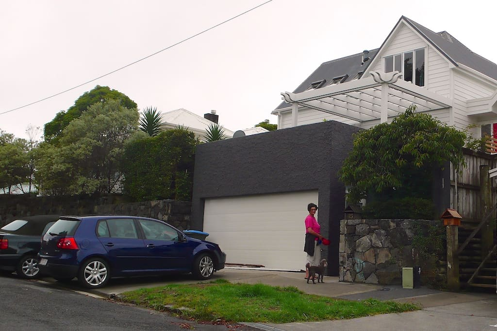 Home is private above street-level. Off-street carpark X 1 (as shown)
