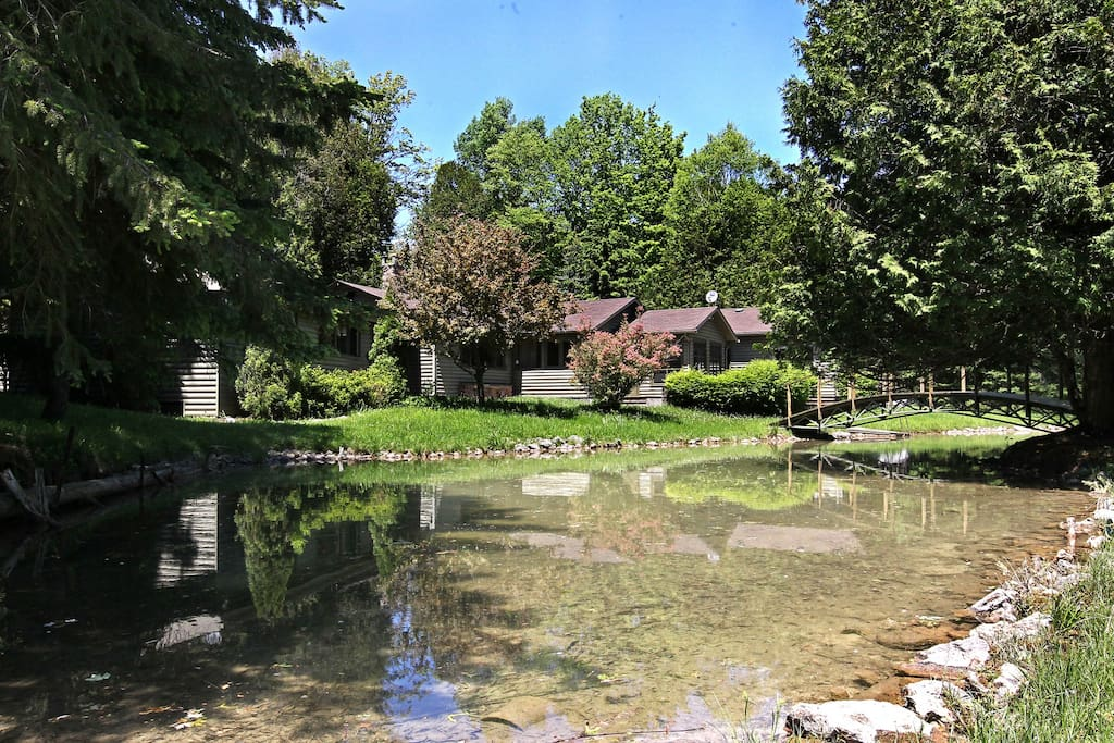 20,000 sq.ft. Private, Natural, Spring Fed Pond