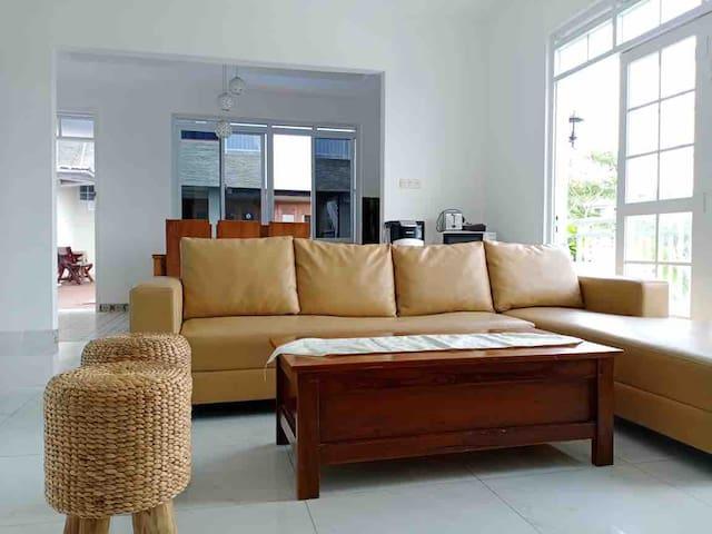 Bigger Living room adjacent to kitchen