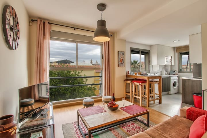Flat with beautiful views, centric - Málaga