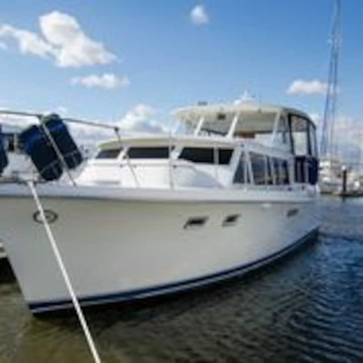 Restored Vintage Hatteras Yacht
