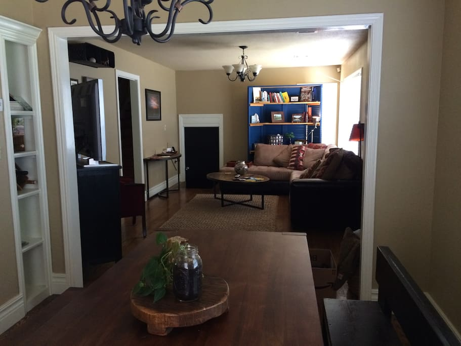 From dining room table to living room. Pretty open spot.