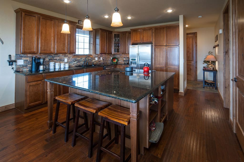 Plenty of room for many chef's in this large kitchen!