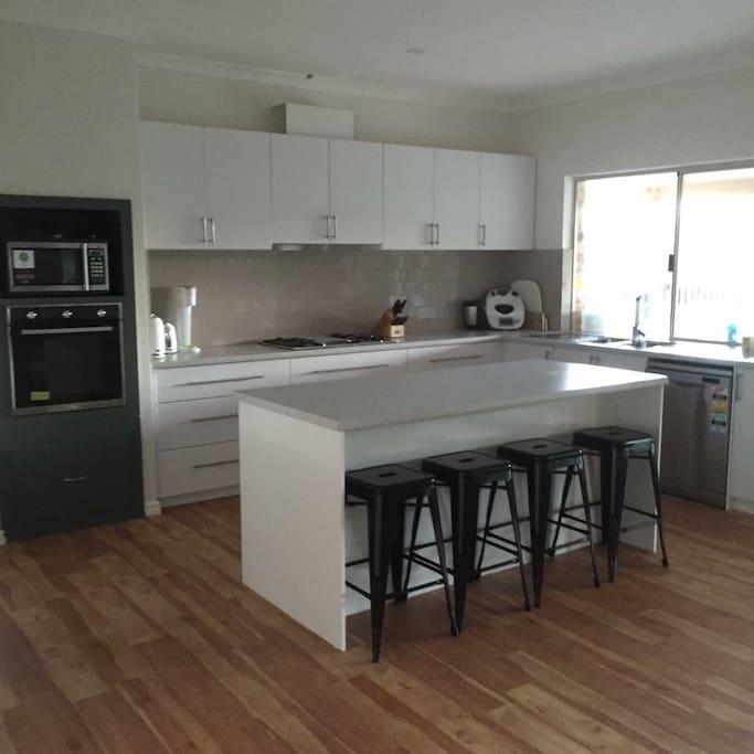 Newly installed modern kitchen