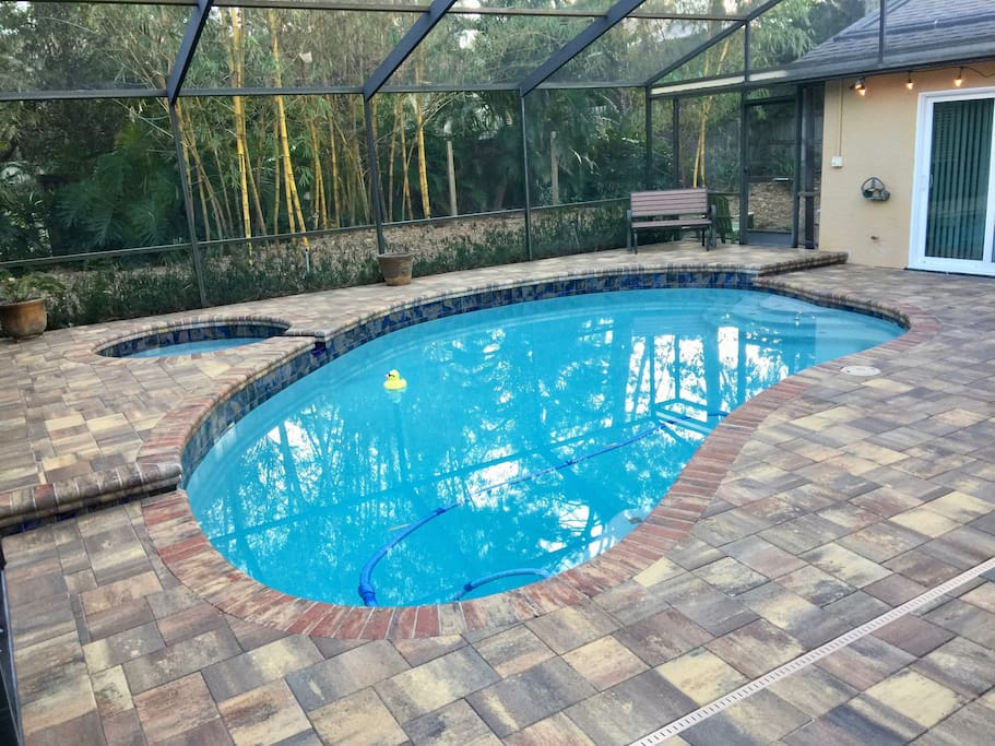 relaxing solar heated pool! Floats available too!