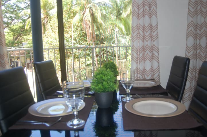Dining with the coco palms