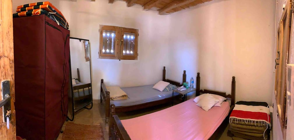 First floor room; two single beds