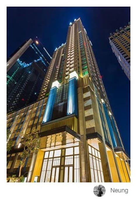 The luxury condominium.