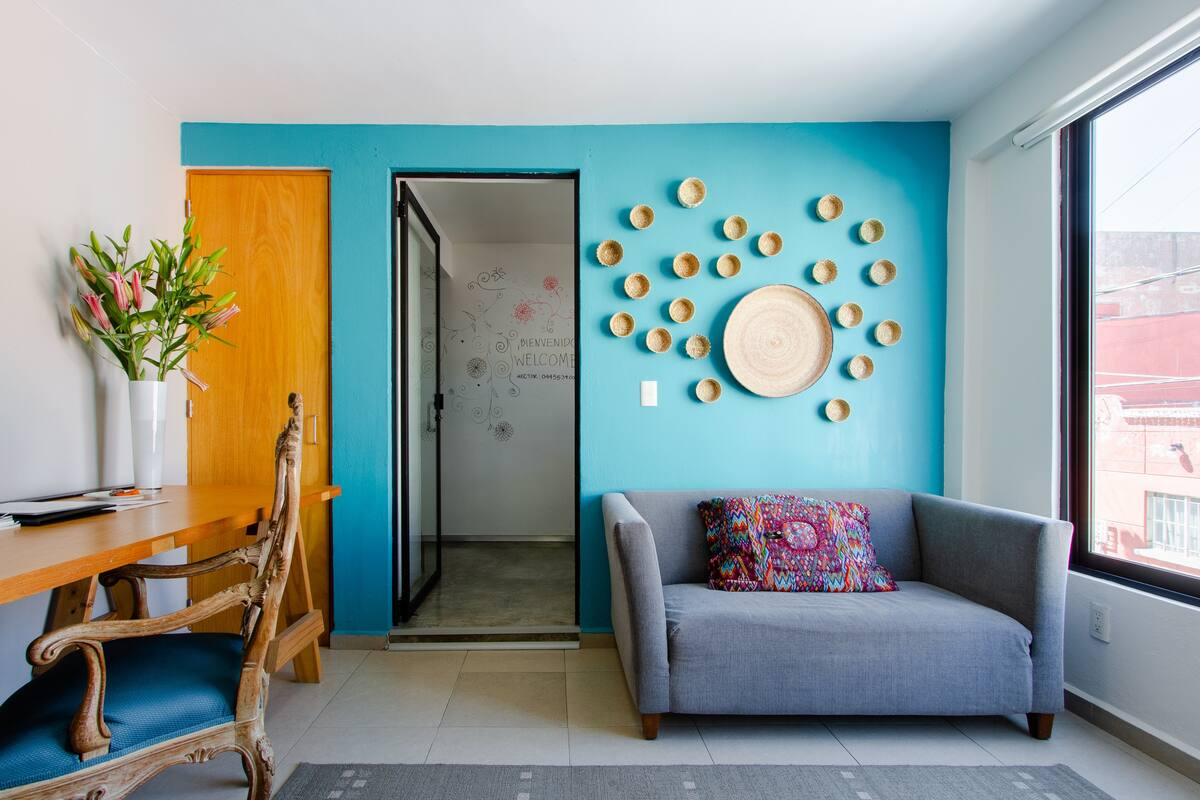 Departamento en Condesa, acogedor, céntrico, iluminado, ubicación ideal.