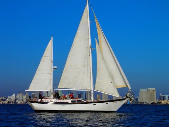 "BOAT, BED & BREAKFAST - ""SLIPAWAY"" - 45'  Ketch"
