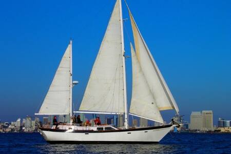 """""""SLIPAWAY"""" - A Classic Ketch Yacht - San Diego"""