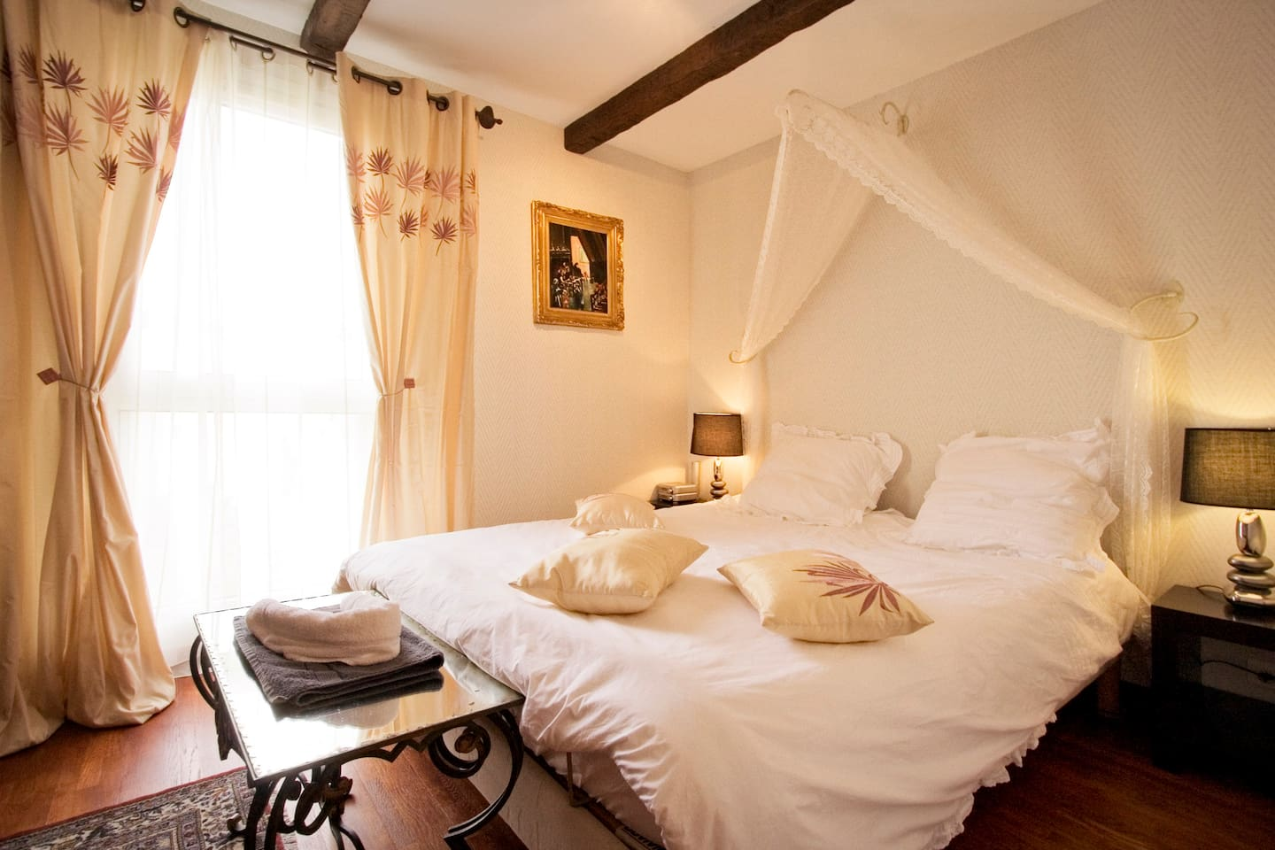 "Your private Bedroom #1 in a large charming Duplex in the quiet neighborhood ""Mazargues"" away from bustle of city centre.  Our apartment is perfect to relax after a busy day sightseeing"