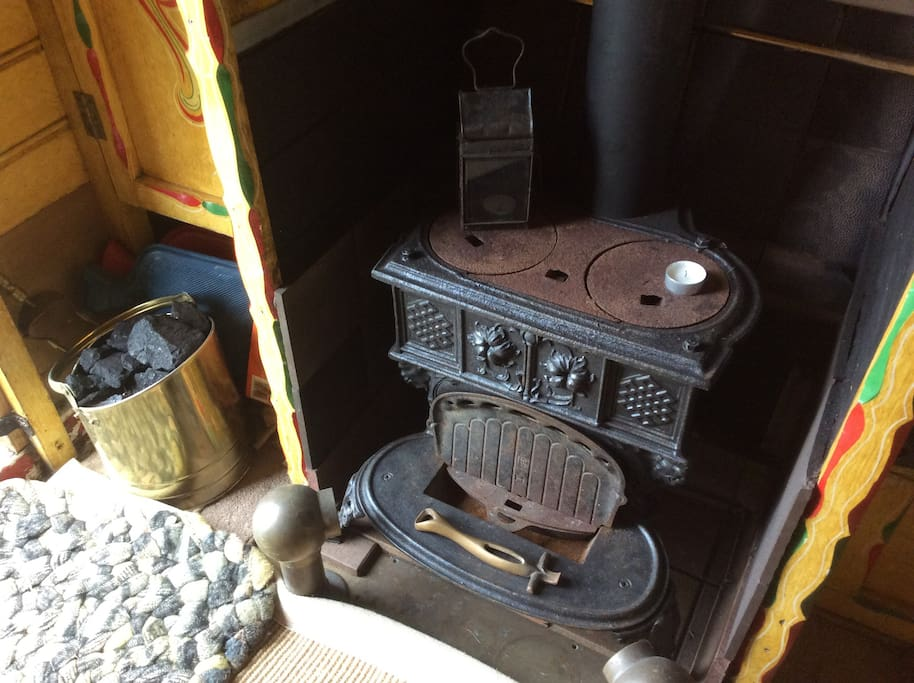 An original traditional Queenie stove (not in use)