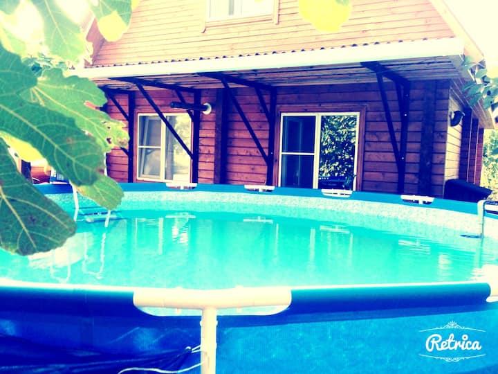 Дом у Моря с бассейном в Лазаревском