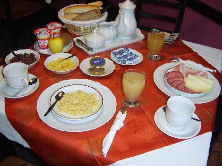 Delicious home breakfast