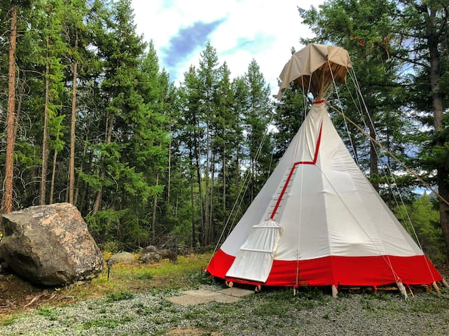 Tipi Glamping Experience in the Northern Thompson