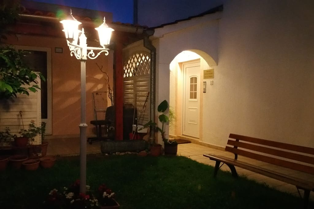 Enjoy the illuminated romantic and relaxing garden