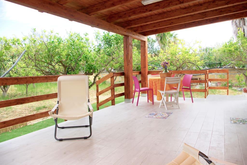 L'ampia veranda