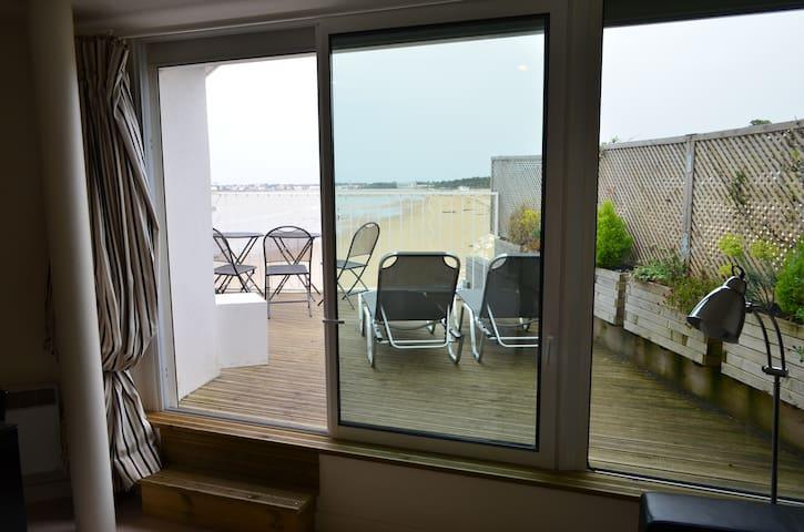 Studio pleine vue mer sur la plage - Saint-Georges-de-Didonne - Apartment