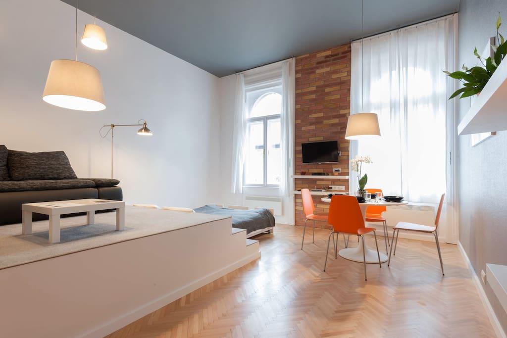 Huge room with plenty natural light