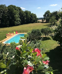 Le Plessis-Le Lierre : Farmhouse loft with pool