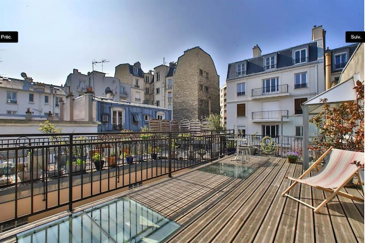 Charming house, beautiful rooftop - Paris - House